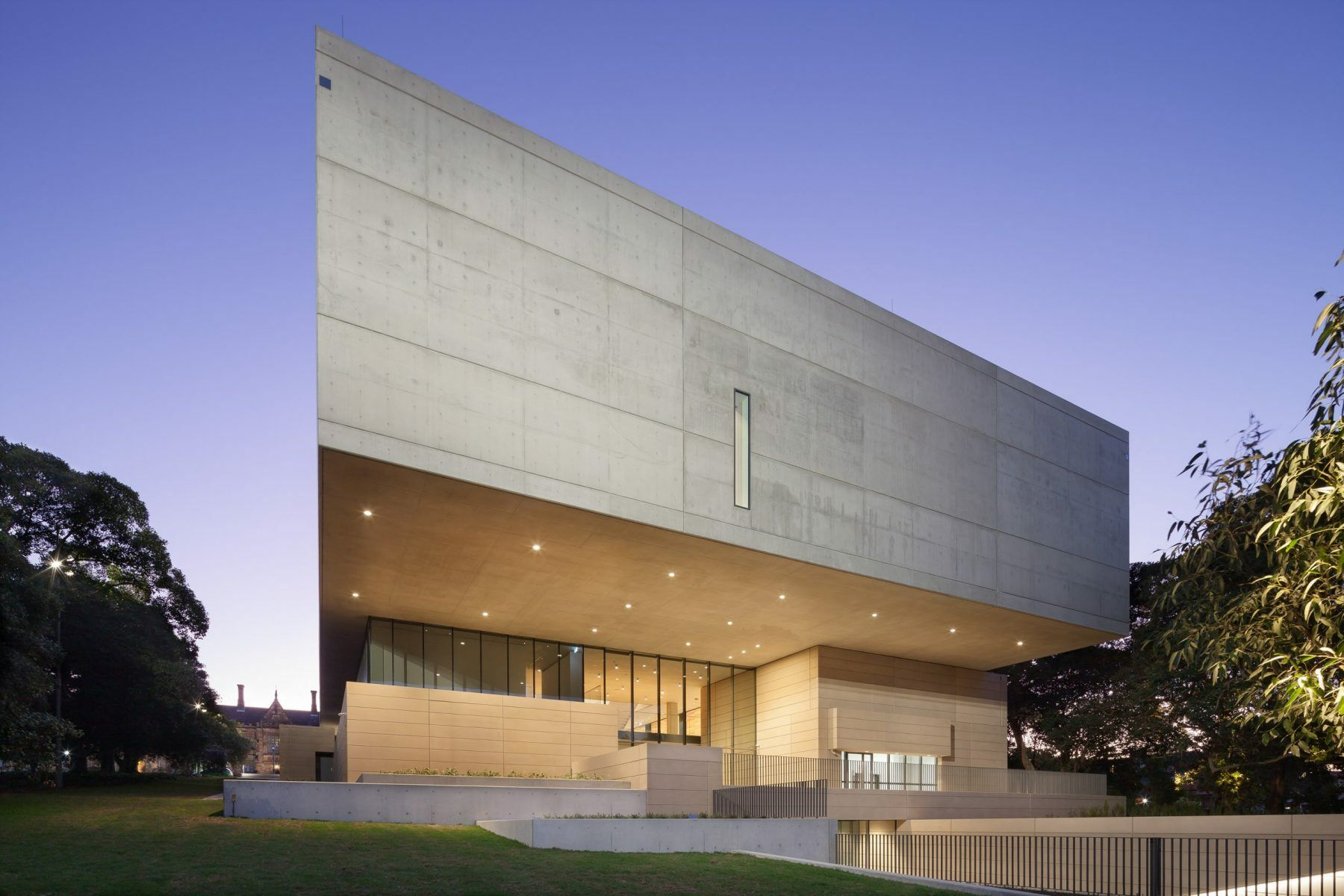 Chau Chak Wing Museum facade at Sydney University